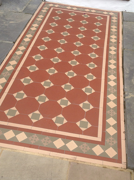 Victorian Geometric Floor Tiles Outside Inspiration In