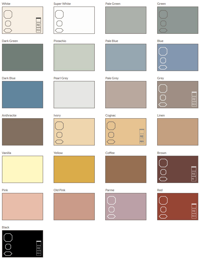 Olde English Tiles Colour Chart