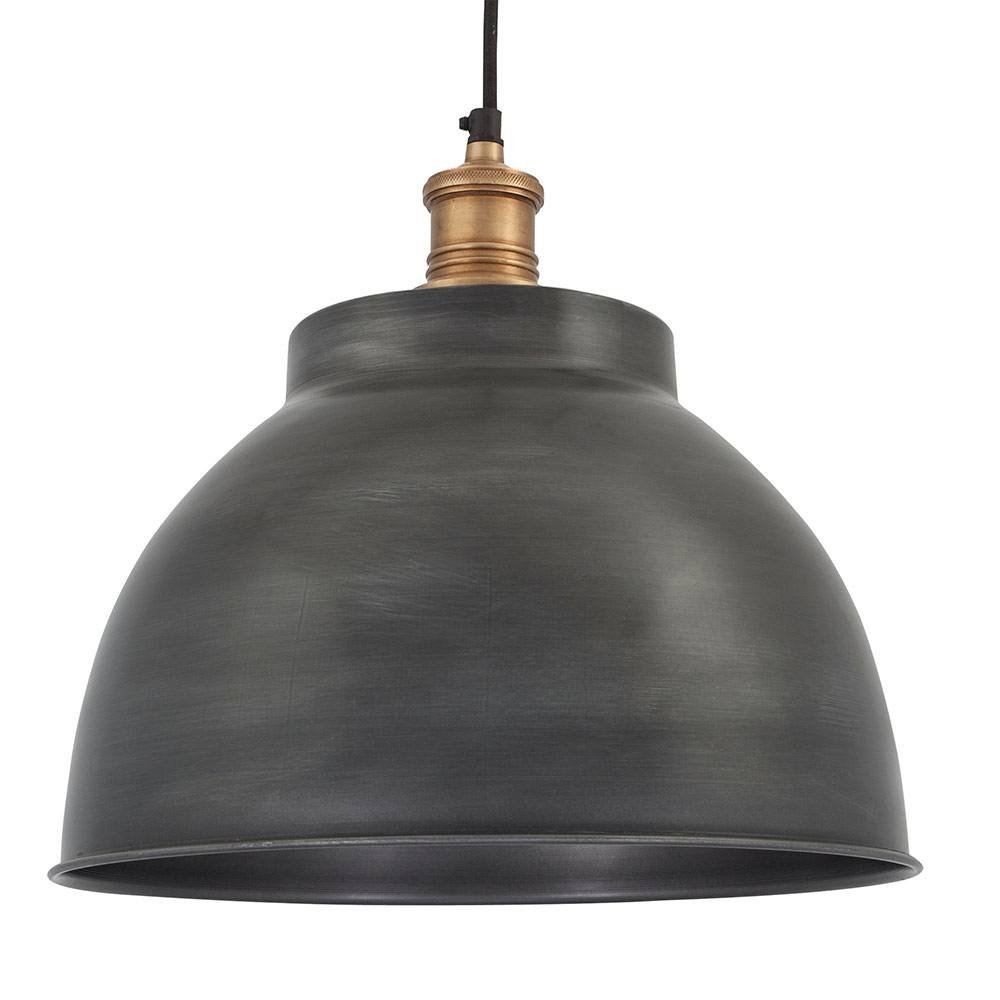 image pendant vintage modern light matte black dome