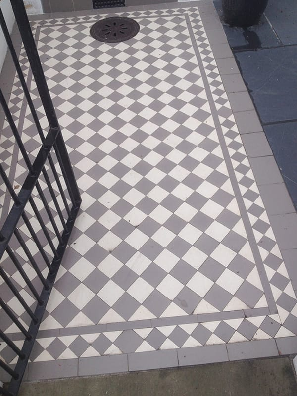 Victorian Geometric Floor Tiles Outside Inspiration In South