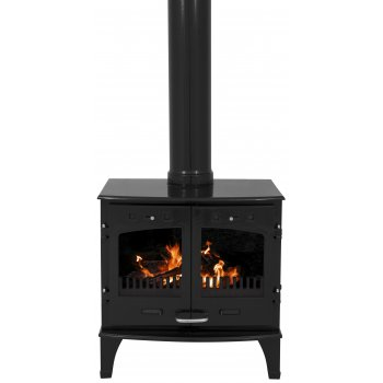 Carron 11KW Solid Fuel Stove - Black Enamel