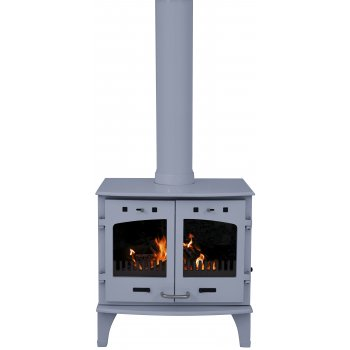 Carron 11KW Solid Fuel Stove - China Blue Enamel