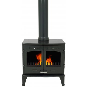 Carron 11KW Solid Fuel Stove - Green Enamel