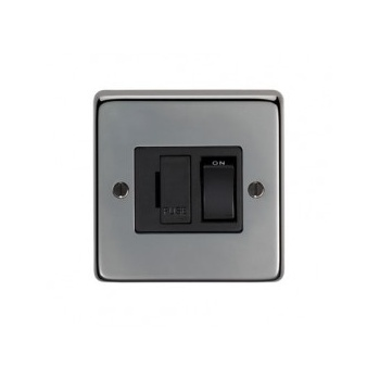 From the Anvil 13amp Fused Switch - Black Nickel