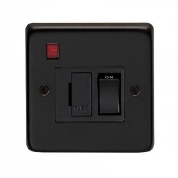 From the Anvil 13amp Fused Switch With Neon - Matt Black