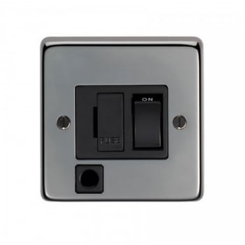 From the Anvil 13amp Switched Fuse With Flex Outlet - Black Nickel