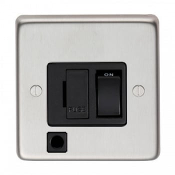 From the Anvil 13amp Switched Fuse With Flex Outlet - Satin Stainless Steel
