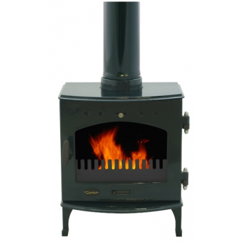 Carron 4.7KW Solid Fuel Stove - Green Enamel