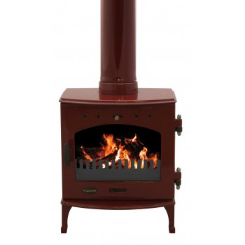 Carron 4.7KW Solid Fuel Stove - Red Enamel