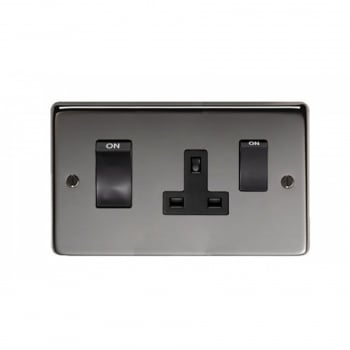 From the Anvil 45amp Switch & Socket - Black Nickel