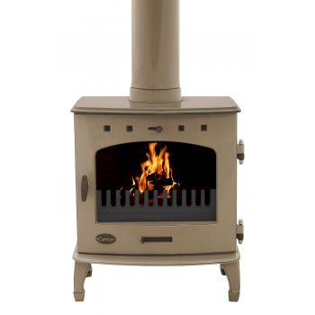 Carron 7.3KW Solid Fuel Stove - Antique Enamel