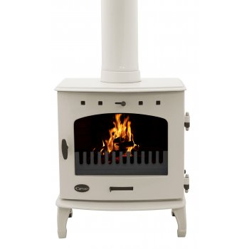 Carron 7.3KW Solid Fuel Stove - Cream Enamel