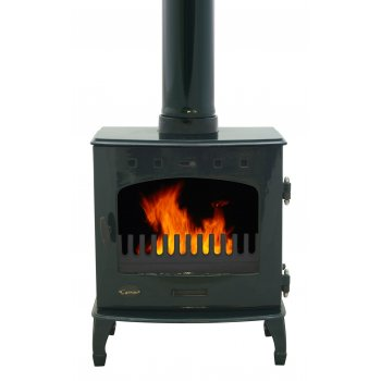 Carron 7.3KW Solid Fuel Stove - Green Enamel