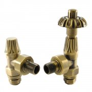 Abbey Traditional Thermostatic TRV Radiator Valve Set