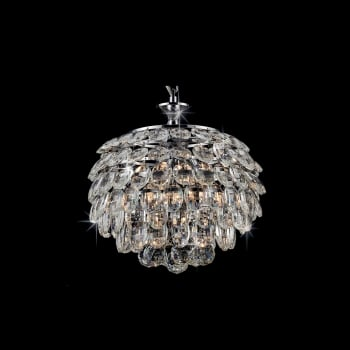 Impex Lighting Adaliz K9 Crystal Pendant Light in Chrome
