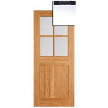LPD Doors Adoorable Oak Cottage 4 Light Double Glazed Exterior/External Door