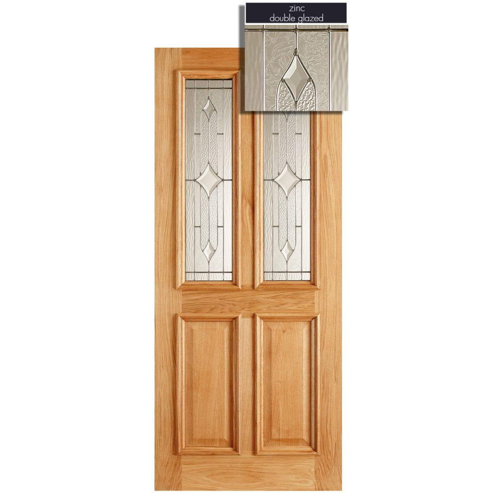 Lpd adoorable oak derby 2 light double glazed exterior for External double doors