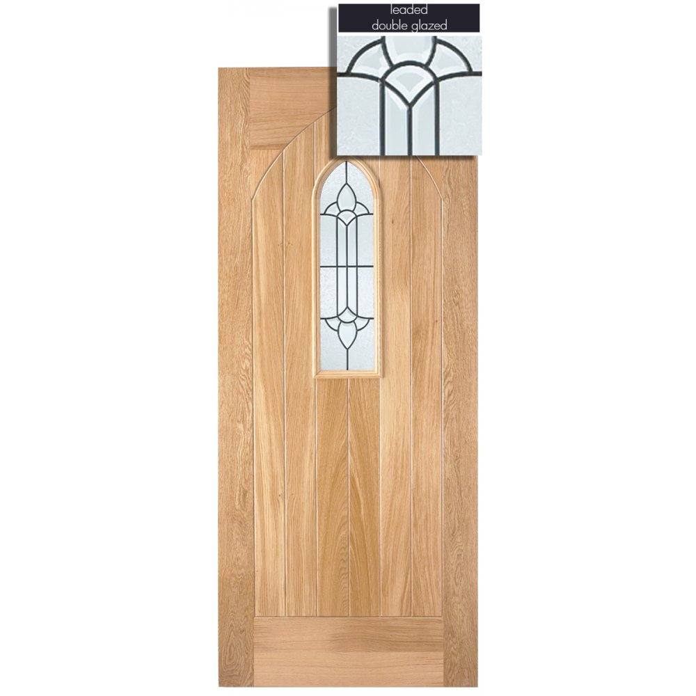 Lpd adoorable oak westminster 1 light double glazed for Exterior front door lights
