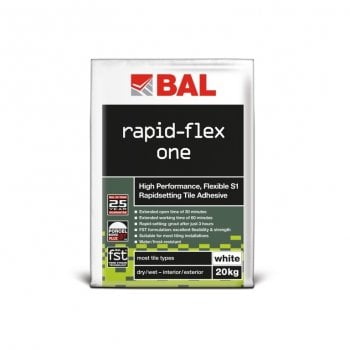 BAL Rapid-Flex One Tile Adhesive For Walls & Floors 20Kg