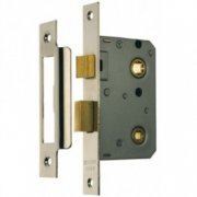 Bathroom Mortice Lock - Nickel Plated