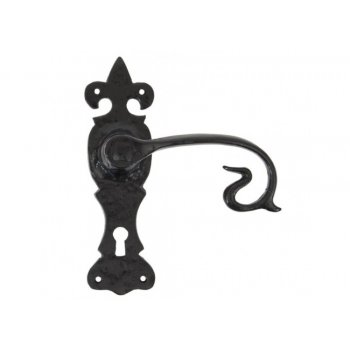 From the Anvil Black Curly Lock, Lever and Bathroom Handle sets