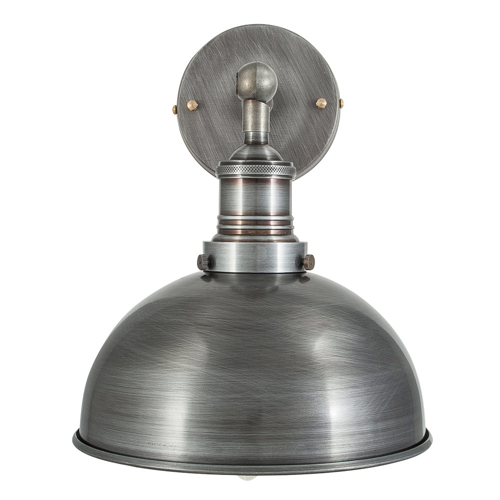 sc 1 st  Period Property Store & Vintage Industrial Style Dark Pewter 8 Inch Dome Lamp Shade
