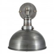Brooklyn Vintage Antique Sconce Wall Lamp - Dome - Dark Pewter - 8 inch