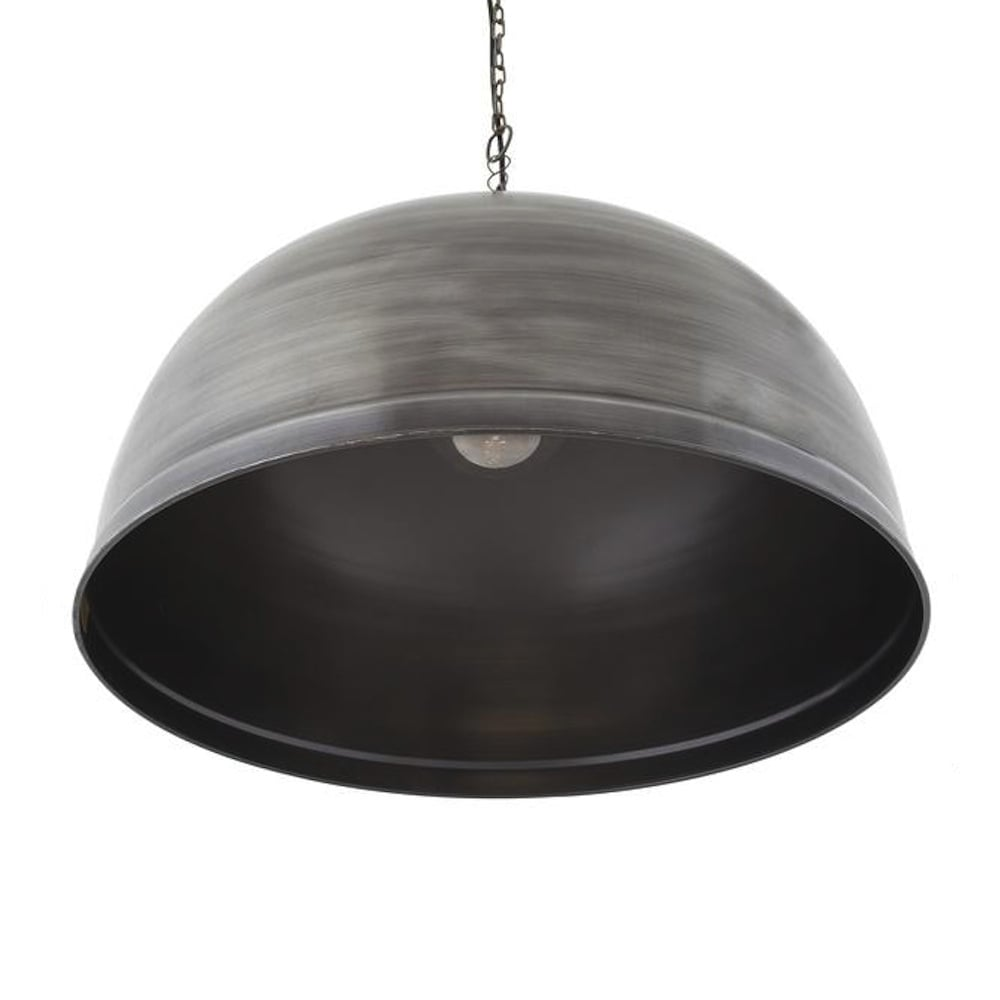 Brooklyn vintage metal giant dome pendant light dark pewter 235 view all industville aloadofball Image collections
