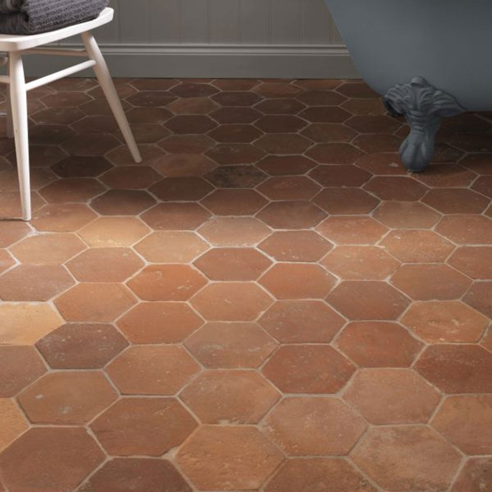 Terra cotta tile floors