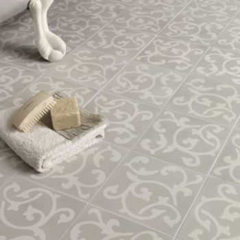 Ca'Pietra Cement Encaustic Bloomsbury Pattern Tile