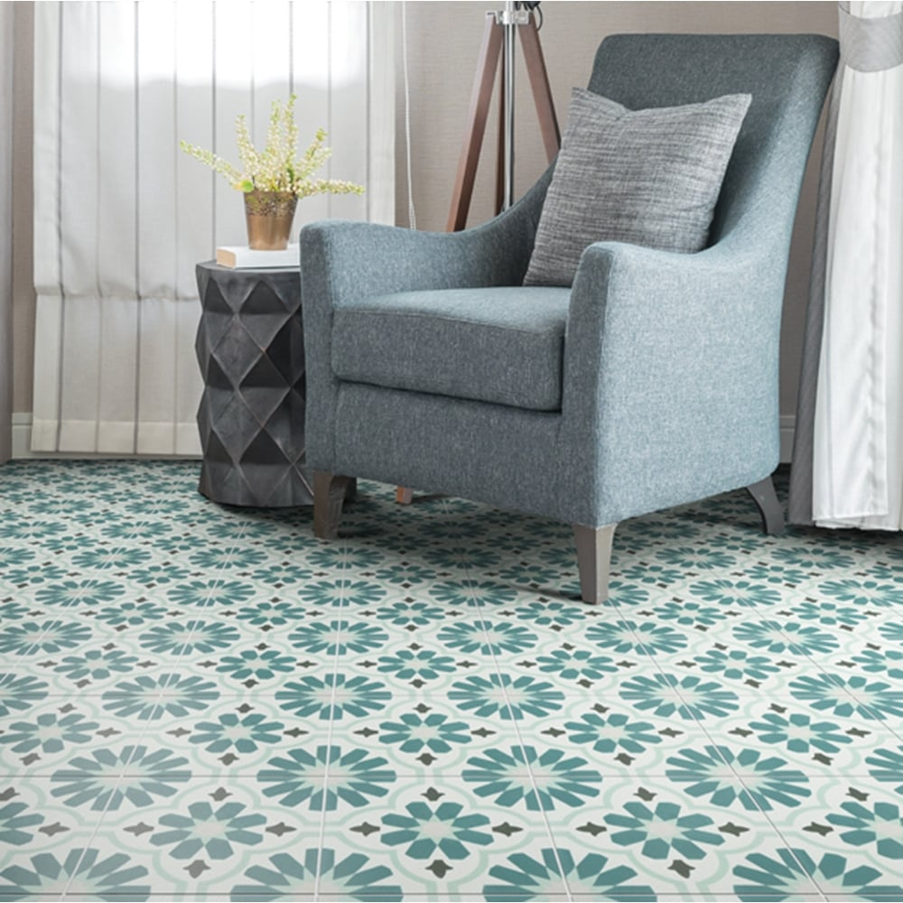 Capietra Cement Encaustic Cordoba Pattern Tile Flooring From