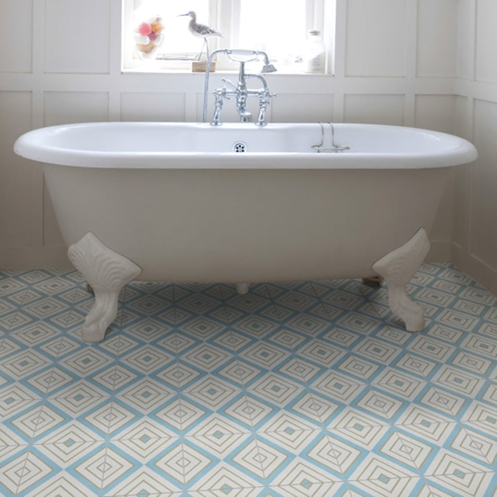Ca\'Pietra Cement Encaustic Darcy Pattern Tile - Flooring from Period ...