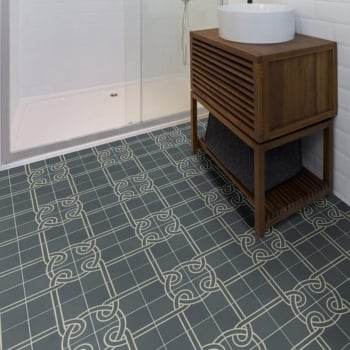 Ca'Pietra Cement Encaustic Knot Pattern Tile