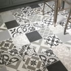 Cement Encaustic Patchwork Grey Pattern Tile