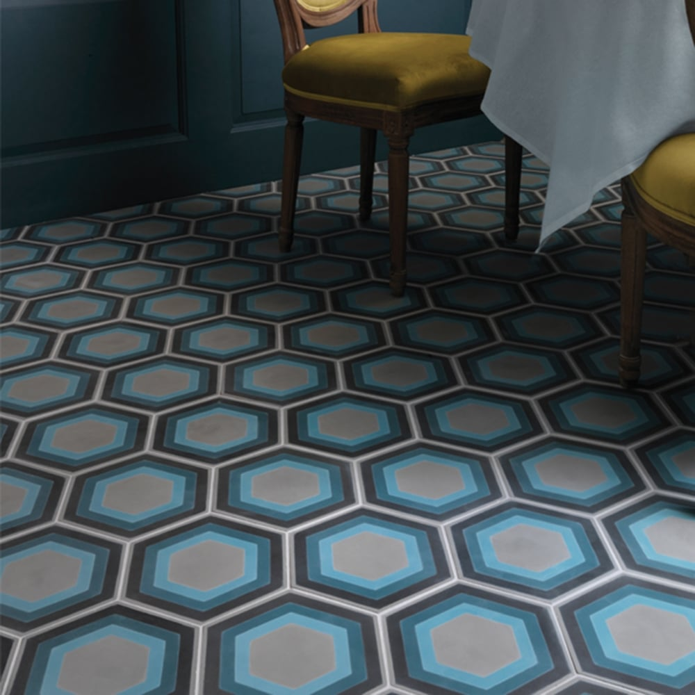 Capietra Cement Encaustic Patisserie Pattern Tile Flooring From