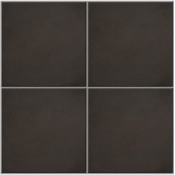 Ca'Pietra Cement Encaustic Plain Field Tile - Charcoal