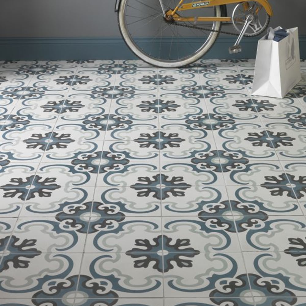 Ca Pietra Cement Encaustic Toulon Pattern Tile Walls