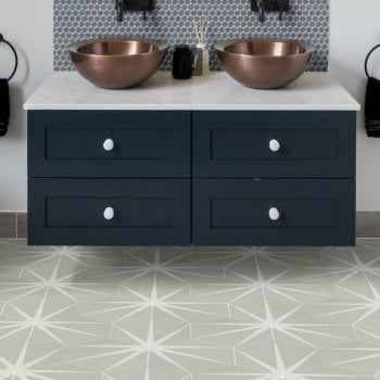 Ca'Pietra Porcelain Lily-Pad Pattern Wall & Floor Tiles