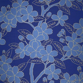 Little Greene Camellia - Smalt Wallpaper