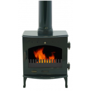 4.7KW Solid Fuel Stove - Green Enamel