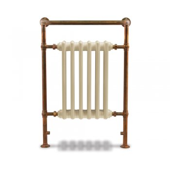 Carron Broughton Steel Towel Rail Copper Finish