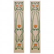 Handpainted Tube Lined Fireplace Tile Set (10) - LGC012