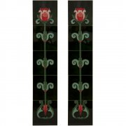 Handpainted Tube Lined Fireplace Tile Set (10) - LGC018