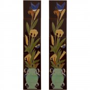 Handpainted Tube Lined Fireplace Tile Set (10) - LGC086