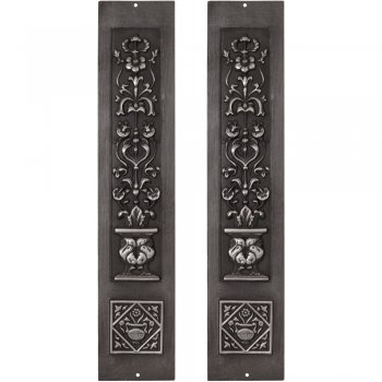 Carron Pair Cast Iron Fireplace Panel Inserts - RX080