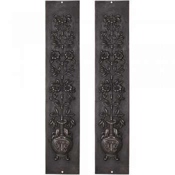 Carron Pair Cast Iron Fireplace Panel Inserts - RX081