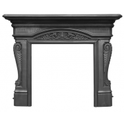 The Buckingham Cast Iron Fireplace Surround - Black