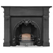 The Cherub Cast Iron Fireplace Insert - Highlight Polish