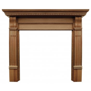 Carron The Corbel Fine Wood Fireplace Surround with Wide Opening - Oak