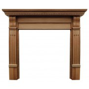 The Corbel Fine Wood Fireplace Surround with Wide Opening - Oak